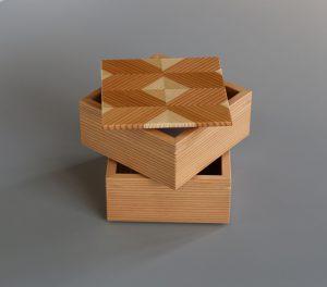 岐阜の木製品「結粋」お弁当箱(こ重2段)