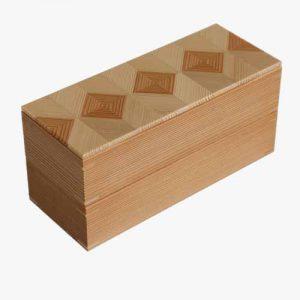 岐阜の木製品「結粋」お弁当箱(お重M2段)